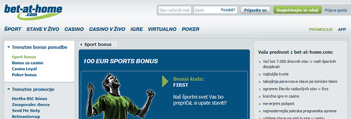 Bet-at-home bonus 5 EUR